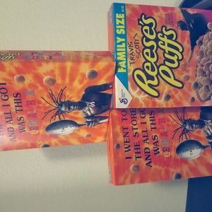 3 PACK!!! Travis Scott x Reese's Puffs cereal